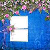 写作与帧和花卉美丽 bouq 抽象背景 — 图库照片