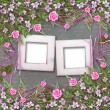 Writing abstract background with paper and floral beautiful bouq — Stock Photo #5640684