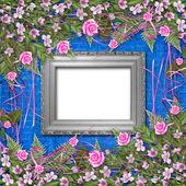 Escritura resumen antecedentes con papel y puedo hermosa flores — Foto de Stock