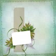 Abstract background with bunch of flower and frame — Stock Photo