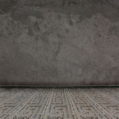 Old room with concrete walls and former beauty — Stock Photo
