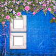 Writing abstract background with paper and floral beautiful bouq — Stok fotoğraf