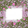 Writing abstract background with frame and floral beautiful bouq — Stock Photo #5761860