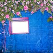 writing abstract background with frame and floral beautiful bouq — Stock Photo
