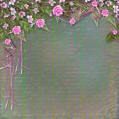 Schrijven van abstracte achtergrond met mooie bloemen boeket — Stockfoto