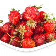 Fresh ripe strawberries on a white background isolated — Stock Photo