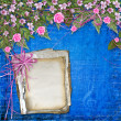 Writing abstract background with paper and floral beautiful bouq - Stok fotoğraf