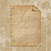 Torn yellow paper fastened with masking tape. Old parchment — Stock Photo