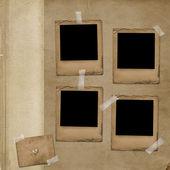Oude grunge papier dia's op de oude achtergrond — Stockfoto