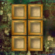 Old wooden frames for photo on the abstract paper background — Stock Photo #6182852