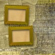 Old wooden frames for photo on the abstract paper background — Stock Photo #6182853