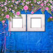 Writing abstract background with paper and floral beautiful bouq — Stockfoto