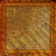 Wooden frame in Victorian style on the abstract ancient backgro — Stock Photo