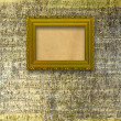 Old wooden frames for photo on the abstract paper background — Stock Photo