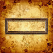 Old gold frame on the abstract background — Stock Photo