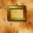 Old wooden frames for photo on the abstract paper background — Stock Photo #6259258