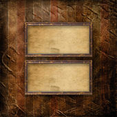Old grunge frames on the ancient paper background — Stock Photo