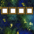 Old wooden frame for photo on the abstract paper background — Stock Photo #6406258
