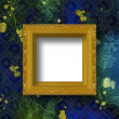 Old wooden frame for photo on the abstract paper background — Stock Photo #6463682