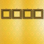 Старая деревянная рамка для фото на фоне абстрактный документ — Стоковое фото