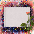 Old papers and grunge filmstrip  with beautiful roses — Foto de Stock