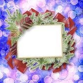 Rozmycie streszczenie tło boke z ramki papieru i kilka gałązka — Zdjęcie stockowe