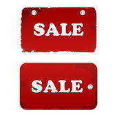 Vector red sale set. discount tags labels — Stock vektor