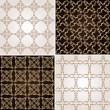 Royalty-Free Stock Imagem Vetorial: Seamless vintage background wallpaper set