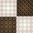 Seamless vintage background wallpaper set — Stock Vector