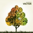 Abstract colorful tree background — Stock Vector