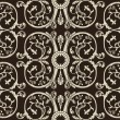 Seamless vintage heraldic wallpaper black background — 图库矢量图片