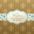 Invitation vintage label vector frame - Stok Vektör