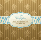Invitation vintage label vector frame — Stock Vector