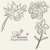 Vintage Flower background — Stock Vector