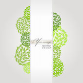 Vector abstract banner green background — Stock Vector