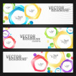 Abstract colorful banners set — Stock Vector