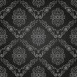Seamless vintage black wallpaper. Ornament background - Stock Vector