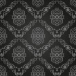 Seamless vintage black wallpaper. Ornament background - 