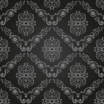 papel de parede preto sem costura vintage. fundo de ornamento — Vetorial Stock
