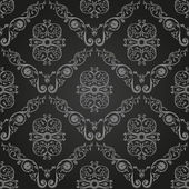 Seamless vintage black wallpaper. Ornament background — Stock Vector