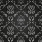 Nahtlose vintage schwarz tapete. ornament hintergrund — Stockvektor