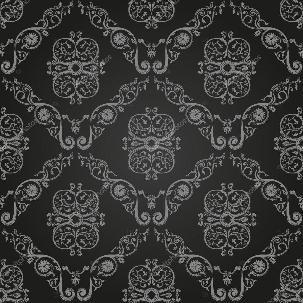 nahtlose vintage schwarz tapete ornament hintergrund stockvektor extezy 6249288. Black Bedroom Furniture Sets. Home Design Ideas