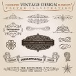 Calligraphic elements vintage Congratulation ribbon. Vector fram — Stockvektor