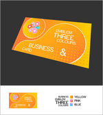 Abstract vector business card elements design — Stock Vector