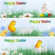Easter Banners, eps10 format - Stockvectorbeeld