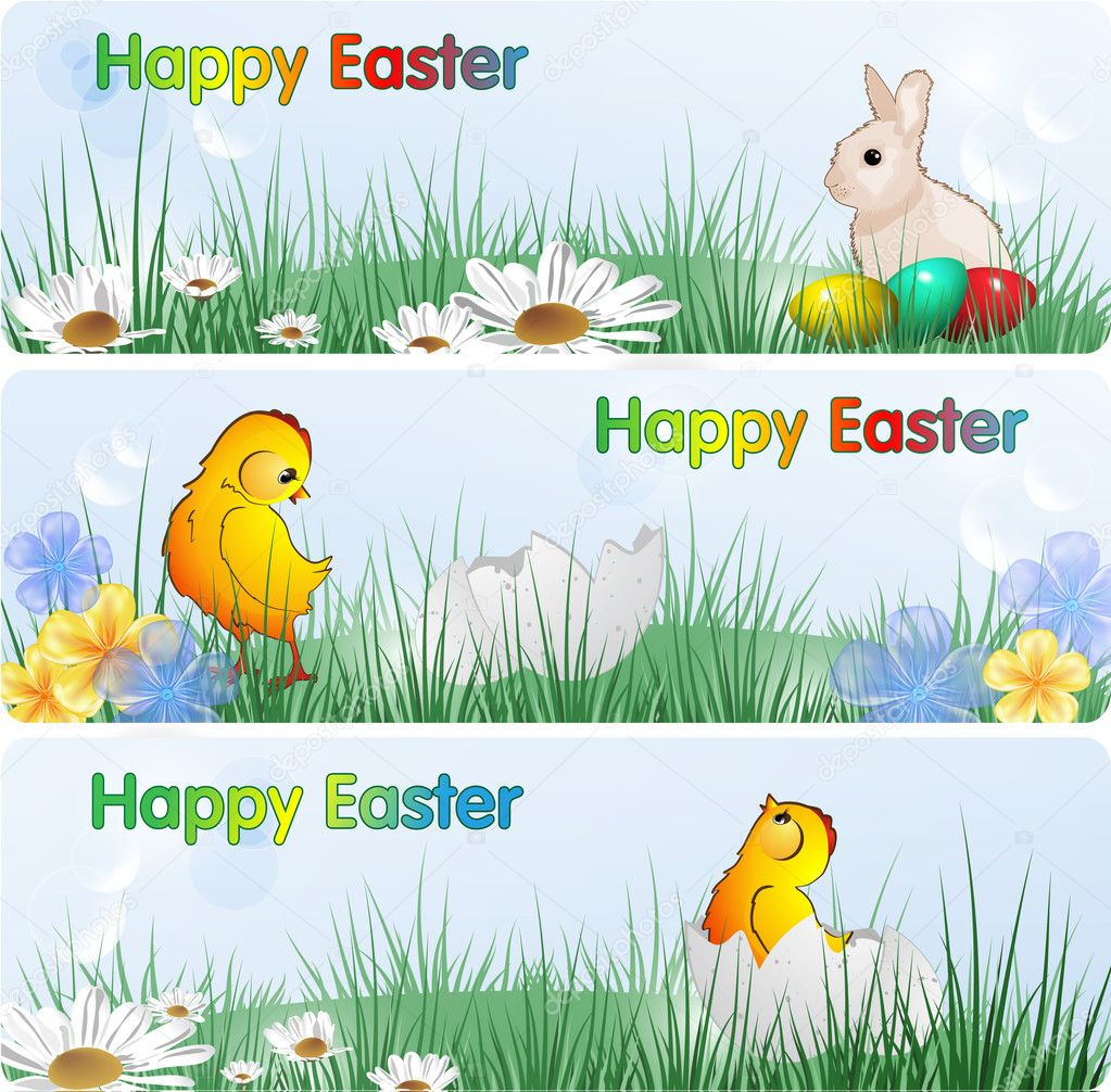 Easter Banners, eps10 format  — Stock Vector #5435639