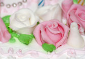 Sweet whipped cream rose — Stock Photo
