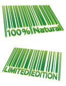 Special Edition and 100% Natural barcodes — Stock Vector