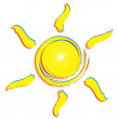 Sun drawing - Stock Vector