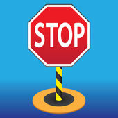 Sign STOP — Stock Vector